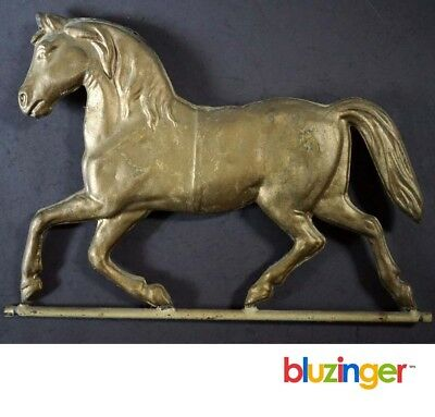 Antique Gilded Tin Prancing Horse Weathervane