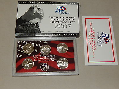 2007-S Silver US  United States Mint State Quarters Proof Set