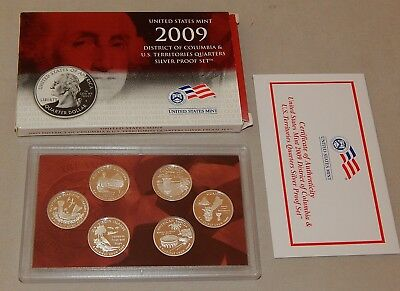 2009-S Silver US  United States Mint Proof Set - DC & US Territories Quarters