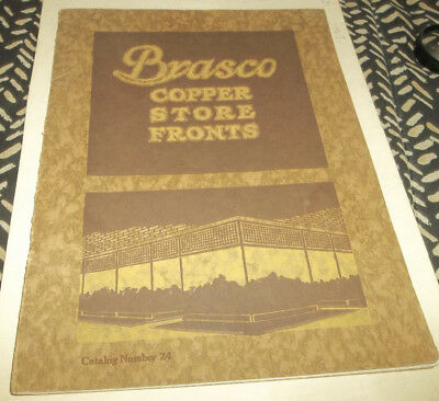 Vtg circa 1916 Brasco Mfg Company Copper Store Fronts Illustrated Catalog
