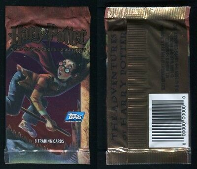 1999 Topps The Adventures of Harry Potter Unissued Prototype Unopened Wax Pack