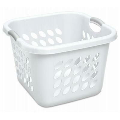 Sterilite 12178006 19 in. White & Gray Handles Ultra Square Laundry Basket
