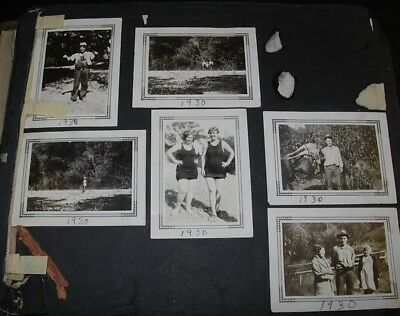 OLD SONOMA COUNTY PHOTO ALBUM 19-TEENs TO 40s HUNTING AUTOS RUSSIAN RIVER