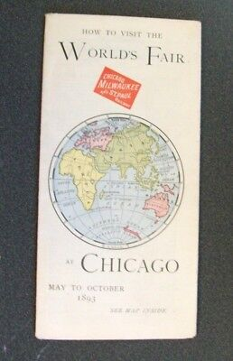 Cm&stp Ry - The Milwaukee Road - 1893- How To Visit The World's Fair At Chicago