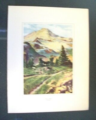 Cmstp&p Rr - The Milwaukee Road - Along The Olympian Trail Promo Mount Baker #6