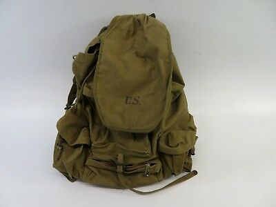 U.S. Military WWII Alpine Troop Canvas Field Pack with Steel Frame - VOT