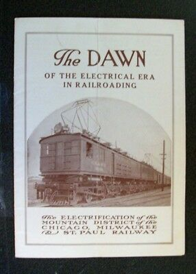 Cm&stp Ry Milwaukee Road - The Dawn - Electrification Of Mountain District 1916