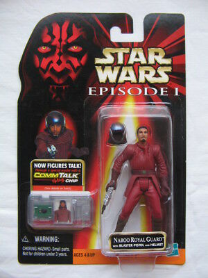 Star Wars Ep.1 - Naboo Royal Guard with Blaster Pistol and Rem. Helmet