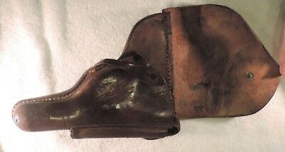 WWII Era Bulgarian Army Leather Holster for Luger P08 Pistol