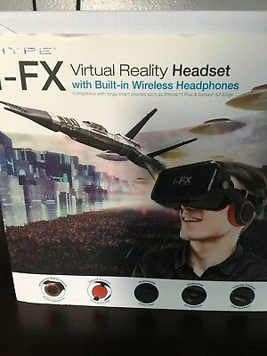 Bluetooth Virtual Reality VR Headset With Wireless Headphones For Apple Samsung