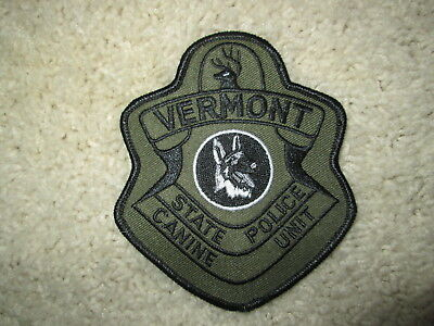 Vermont State Police CURRENT K9 Police Patch