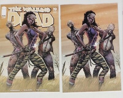 Walking Dead #19 Blind Bag Virgin Color Variant J Scott Campbell + Regular NM