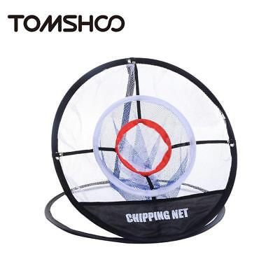 TOMSHOO Tragbare 20-Zoll-Golf Training Chipping Net Schlagen Aid Praxis E1O1