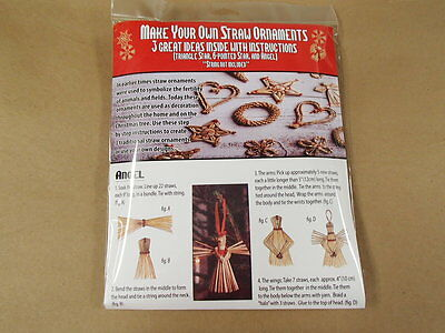 Scandinavian Swedish Danish Finnish Norwegian Kit to Make Straw Ornaments #1499