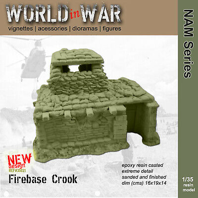 World in War - 1/35 Resin Model FIREBASE CROOK Command Post - Vietnam War