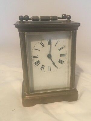 Antique French Brass Carrage Clock in good working order