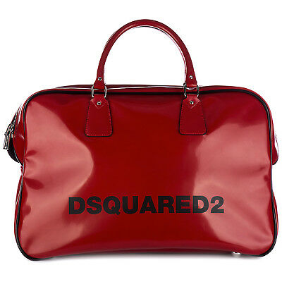 Dsquared2 Travel Duffle Weekend Shoulder Bag New Seventies Duffle Ross 7A1