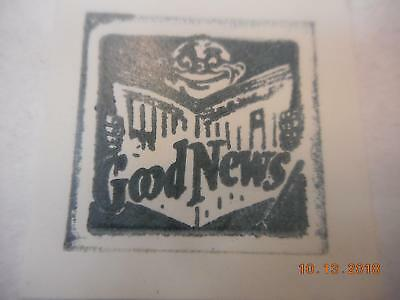 Printing Letterpress Printer Block, Decorative Good News Newspaper, Printer Cut