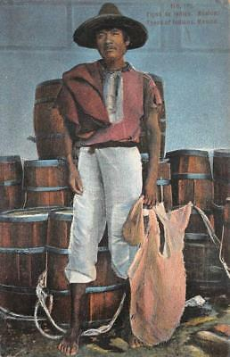 Type Of Indian Mexico Postcard 1937