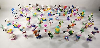 Large Lot Of 50 Vintage Peanuts Snoopy Ufs United Feature Syndicate Figurines