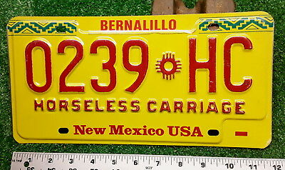 NEW MEXICO - 1990's vintage HORSELESS CARRIAGE license plate - tough one