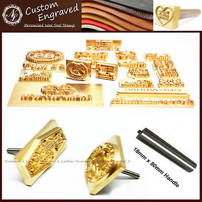 Custom Made Design Your Logo Leather Seal Wood Stamp Branding Iron Carving Mold