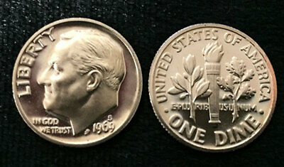 """USA US 10 CENTS ROOSEVELT DIME 1984 /""""S/"""" PROOF COIN UNC"""