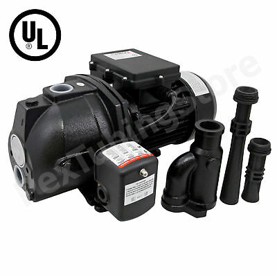 1 HP Convertible Shallow or Deep Well Jet Pump w/ Pressure Switch, DualVoltage a