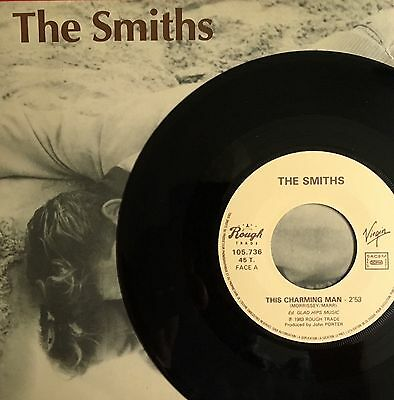 """THE SMITHS -This Charming Man- Rare French 7"""" with Picture sleeve (Vinyl Record)"""