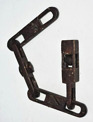 """Antique Hand Carved Wooden Chain 13.5"""""""
