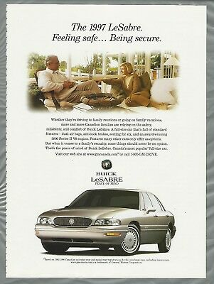 1997 BUICK LeSABRE advertisement, older couple, sedan, Canadian advert