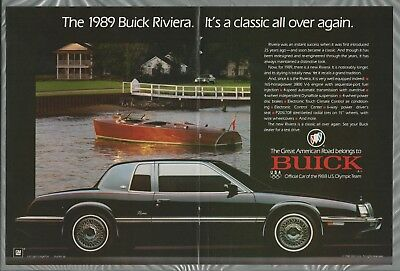 1989 BUICK RIVIERA 2-page advertisement, Buick Riviera 2-door