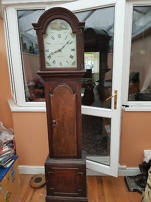 Tho Jordon long case grandfather clock
