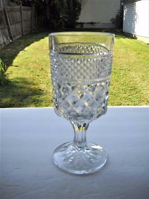 """Anchor Hocking Wexford 6-5/8"""" Tall Water Glass In Excellent Condition"""