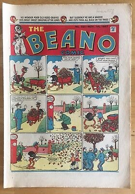 THE BEANO COMIC NOV 1st 1947 LORD SNOOTY PANSY POTTER FINE