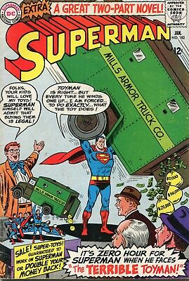 Superman # 182 - The 1St Silver Age Appearance Of The Toyman - Curt Swan Art
