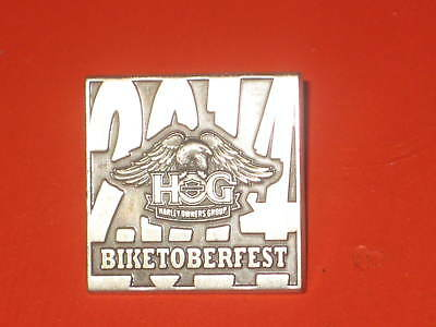 Harley Owners Group Hog 2014 Biketoberfest Sealed Pkg Pewter Silver Pin New