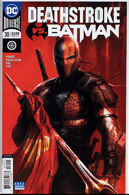 DC Comics Deathstroke #30 Francesco Mattina Variant Cover vs Batman