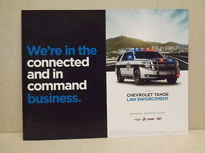 2019 Chevy Tahoe Ppv Police Package Factory Brochure