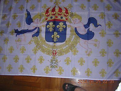 NEW Reproduced Royal Standard of the King of France 1643-1765 Flag Ensign 3X5ft