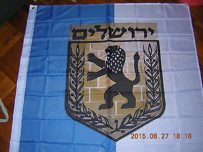 Israel Israeli Flag of the Israeli municipality of Jerusalem Lion Ensign 120X120