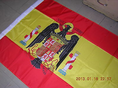 NEW Reproduced Flag of Spain 1945 - 1977 under Franco's Rule Red Ensign 3X5 ft