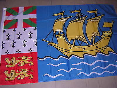 Flag of Saint-Pierre and Miquelon Newfoundland Canada Canadian New France 3X5ft
