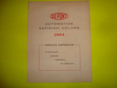 Dupont Automotive Paint Chips / 1964 Chrysler Corporation