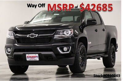 2019 Chevrolet Colorado MSRP$42685 4X4 Z71 Midnight Edition Crew 4WD New Heated Black Leather Seats Camera Bluetooth 17 18 2018 19 Cab Mylink