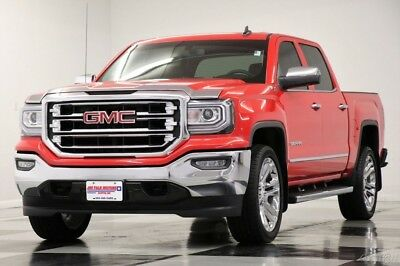 2017 GMC Sierra 1500 4X4 SLT GPS Leather Cardinal Red Crew 4WD Like New Used Heated Cooled Leather 22 In Rim Camera Bluetooth 16 18 2018 17 cab