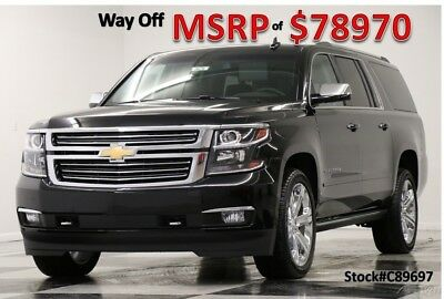 2018 Chevrolet Suburban Premier New Heated Cooled Leather Navigation Player 22 In Chrome  Captains 17 2017 18