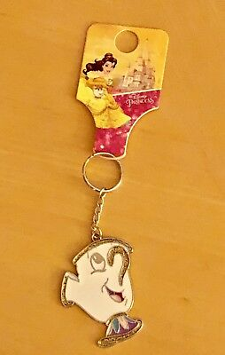 Disney Primark Beauty and The Beast Chip Enamel Key Ring NEW