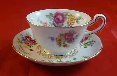 Royal Chelsea Cup and Saucer Floral Bouquet