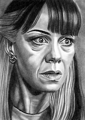 ORIGINAL ACEO sketch card HARRY POTTER Helen McCrory NARCISSA MALFOY
